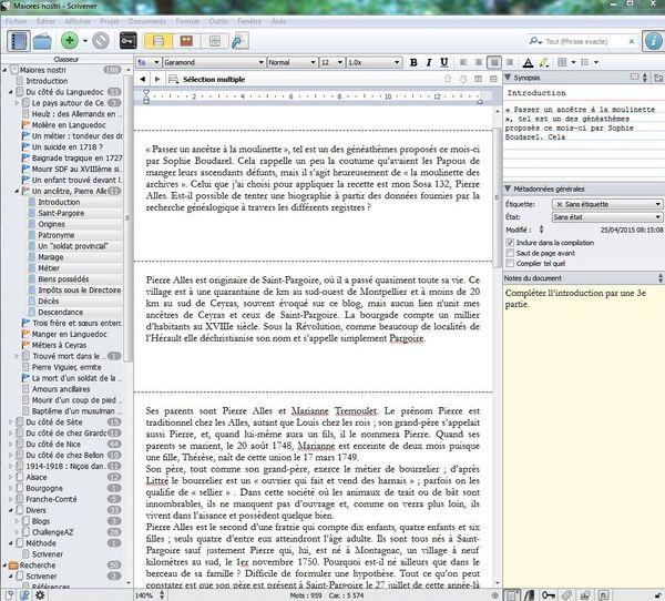 Mode scrivening Scrivener