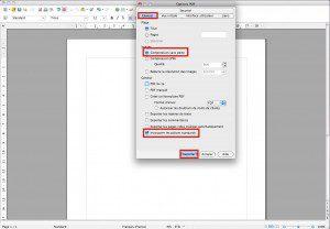 options de conversion pdf dans openoffice libreoffice
