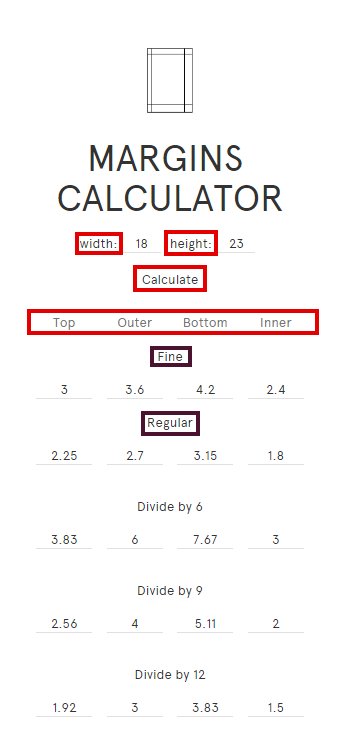 calculer marges margins calculator