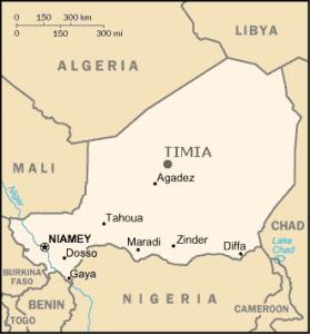 Carte Niger Timia