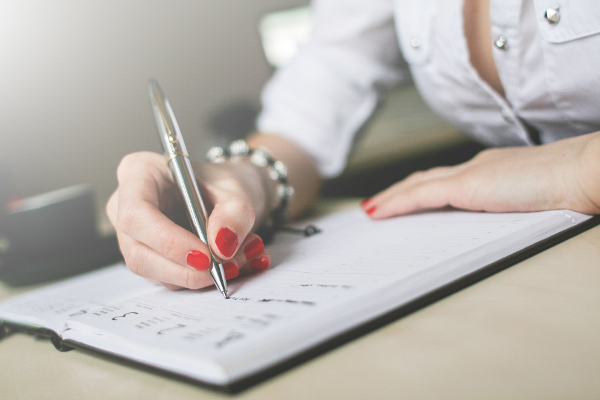 écrire routine habitude planning