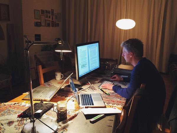 écrire le soir, la nuit ou le matin tôt