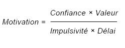 équation motivation procrastination Steel