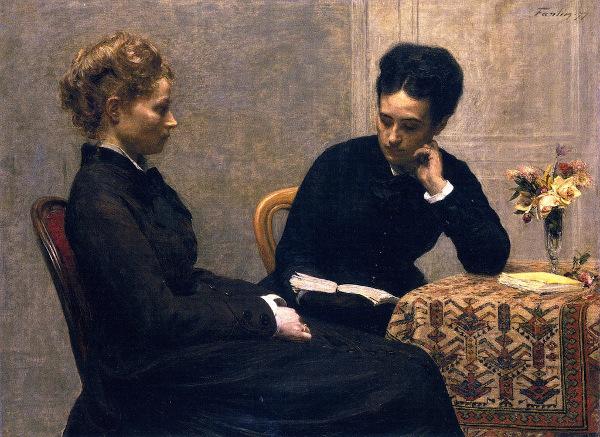 peinture Fantin-Latour Lecture
